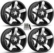 XS811 Rockstar II ATV Wheels/Rims White/Black 18