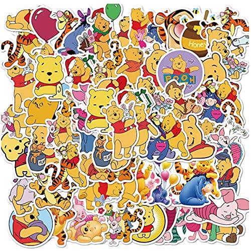 CHENX Cub Winnie Doodle Sticker Valigia Custodia per Cellulare Laptop Sticker Impermeabile 50 Pezzi