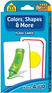 School Zone Flash Card Colors, Shapes & More