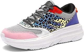 TQGOLD Sneaker de Cales de Plate-Forme pour des Femmes, Chaussures de Marche athlétiques de Maille légère
