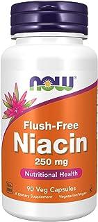 Now Foods Niacina Flush-Libre 250 mg 90 Unidades 80 g