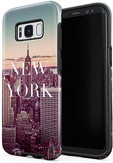 e0d1f7feff6 Cover Universe Funda para Samsung Galaxy S8 New York Landscape Sunset  Traveling Exploring City, Resistente a los Golpes, Carcasa Dura de PC de 2  Capas + ...