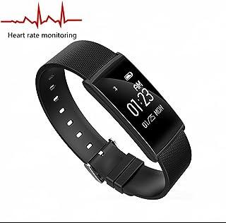 Reloj Inteligente con Fitness Tracker Sincronización,Análisis de Sueño Monitor de Calorías con tador de Calorías Monitor Cardio Alarmas Silenciosas Pulsómetros Compatible con iOS Android Smartphone