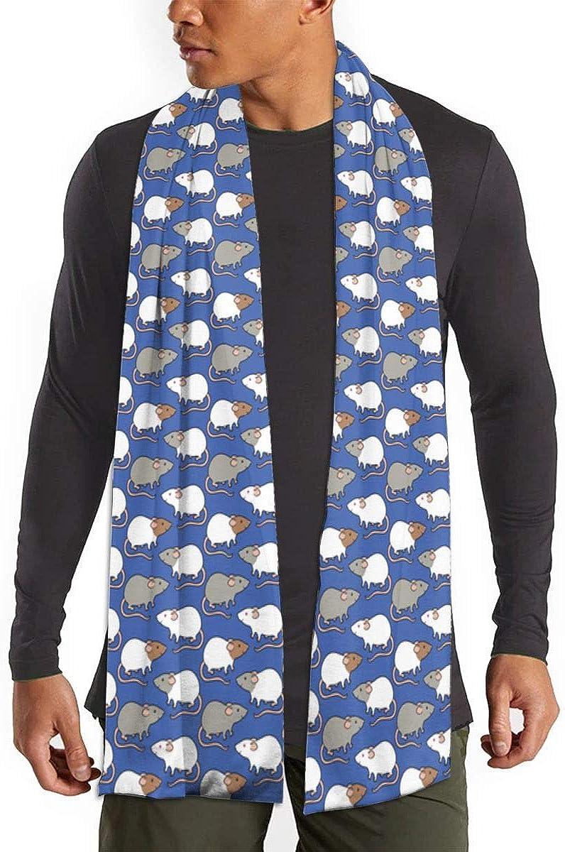 Cashmere Feel Scarf - Super Soft & Warm for Winter - Elegant Looks for Women & Men - Cute Hedgehog