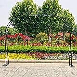 CHFQ Pérgola de jardín con Arco de jardín Negro, Arco de jardín de Rosas para Bodas, Enrejado de jardín de Metal para Varias Plantas trepadoras, Patio Trasero de jardín al Aire Libre, 1.2MX 2.2MX