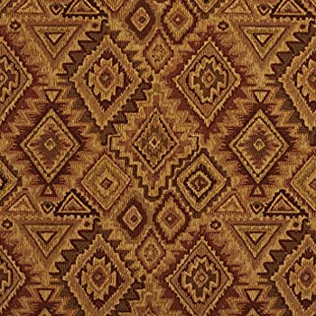 E100 Southwestern Navajo Lodge Style Upholstery Grade Fabric by The Yard