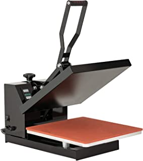 SUNCOO 15x15IN T-Shirt Press Machine Digital Pressing Machine Clamshell Sublimation Heat Transfer Industrial Quality Power Press for T-Shirt/Mouse Pad/Phone Case/Cotton/Bags/Tablecloth