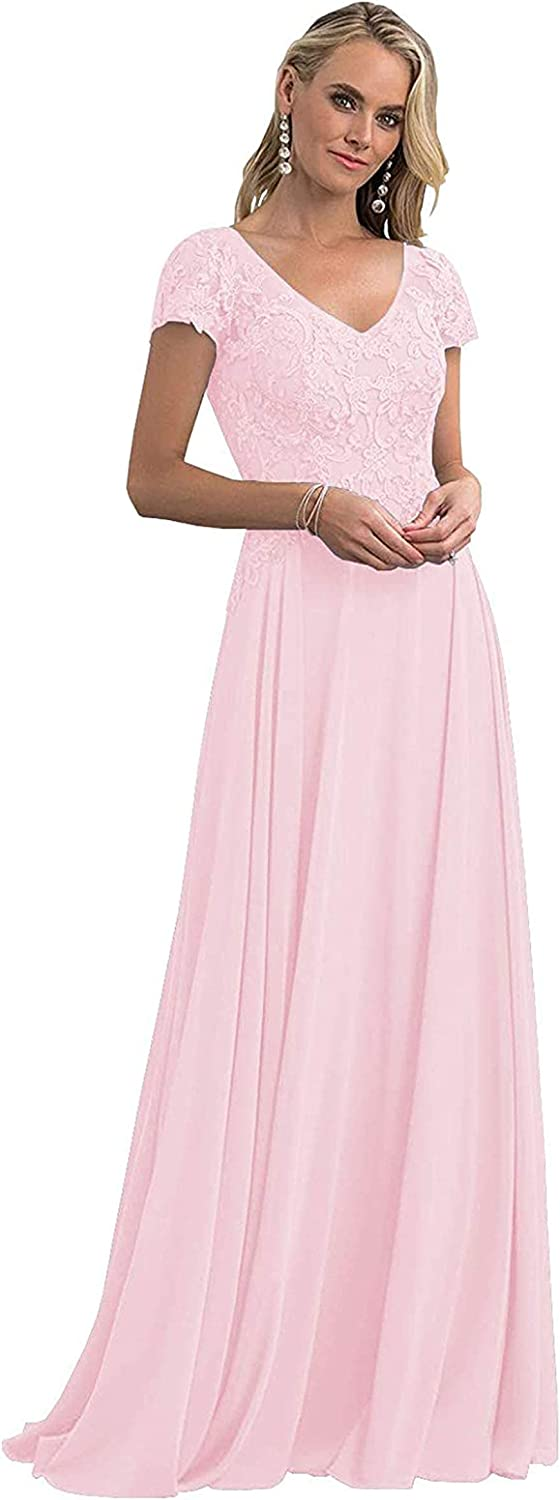 Chiffon Mother SEAL limited product of The Bride Lace Dresses Evening Gorgeous Appliques Long