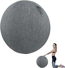 Anti-burst yogabal, balansbalstoelenhoes, stabiliteitsbalans yogabal voor kantoor en thuisbureau met hoes en luchtpomp, ba...
