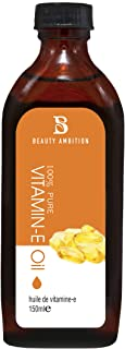 BEAUTY AMBITION Vitamin E Oil - 100% Pure & Natural, Visibly Reduce the Look of Scars, Stretch Marks, Dark Spots & Wrinkle...