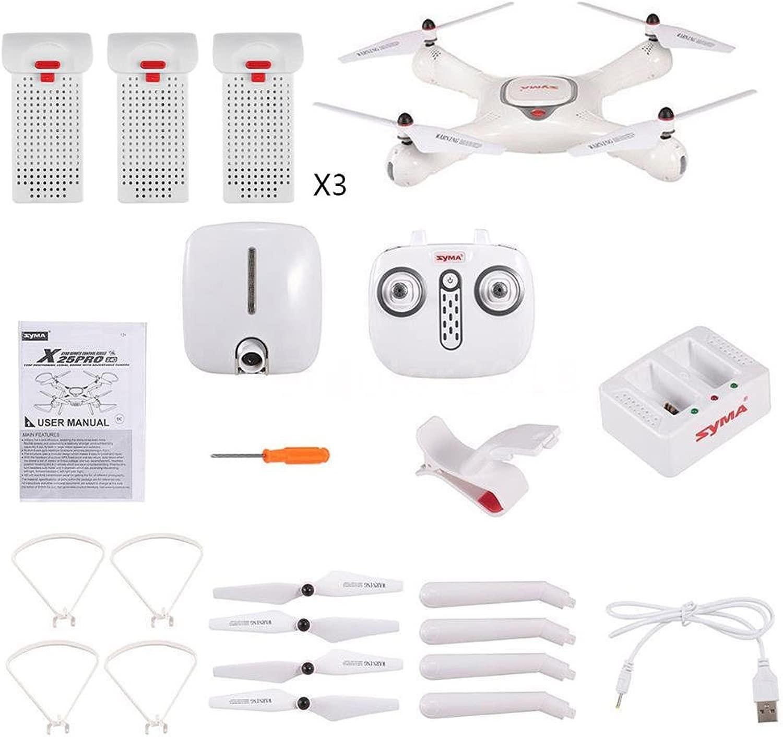Syma Quadricottero Drone originale x25Pro GPS WIFI FPV RC Drone con 1MP fototelecamera quadcopter con Headless modalità One  ave Return semplice telecouomodo Dotato di