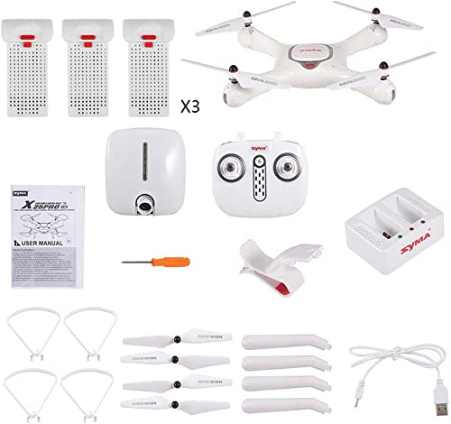 Syma Quadrocopter Drone Original X25 Pro GPS Wifi FPV RC Drohne mit 1MP Kamera Quadcopter mit Headless-Modus One Key Return Einfache Bedienung Ausgestattet