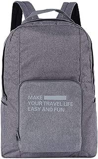 YYuzhongfenM Travel Storage Backpack Waterproof Folding Backpack Multi-Function Large-Capacity Finishing Storage Bag Bag (Color : Grey)