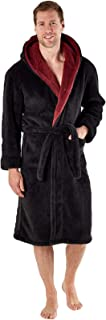 Snuggaroo Mens Soft Fleece Hooded Dressing Gown