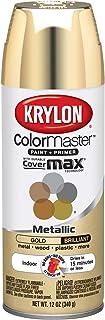 Krylon K15151002 ColorMaster Paint + Primer, Metallic, Gold, 12 oz.