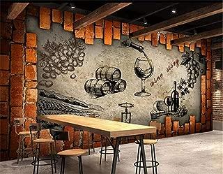YYNIGHT-Retro Wine Storehouse Cellar Manor Wine House Mural Custom Made Large and Medium Mural Silk Wallpaper -300cmx240cm