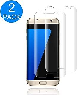 [2-Pack] Galaxy S7 Edge Tempered Glass Screen Protector,[9H Hardness] [Anti-Fingerprint] [Bubble-Free] HD Screen Protector Compatible with Samsung Galaxy S7 Edge