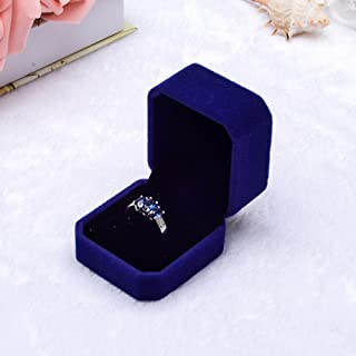 Ring Storage Box with Lid, Yeefant Fashion Velvet Engagement Wedding Earring Ring Pendant Jewelry Display Box Gift