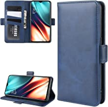 For OPPO K5 / Realme XT/Realme X2 Dual-side Magnetic Buckle Horizontal Flip Leather Case with Holder & Card Slots & Wallet & Photo Frame New (Black) Dualn (Color : Dark Blue)