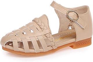 ❤️Rolayllove❤️ Toddler Kids Baby Girls Bowknot Bling Sequins Single Princess Shoes Sandals Girls Glitter Rhinestone Open Toe Low Heel Sandals