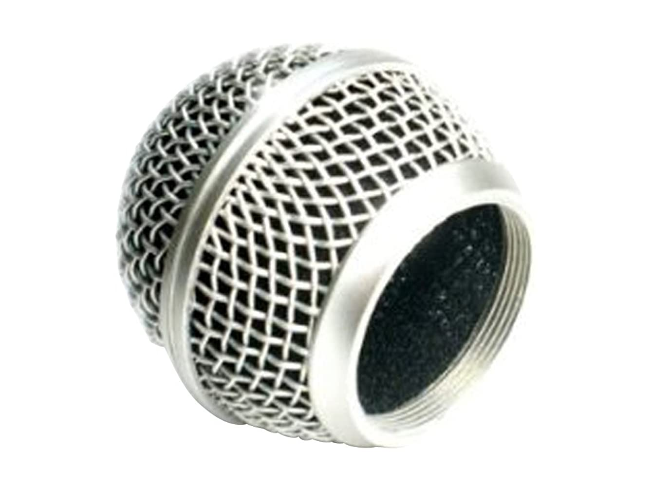 Performance Plus MB58S-C Mic Wire Mesh Replacement Ball Grill for Shure SM58, Bright Chrome ejujkk321013