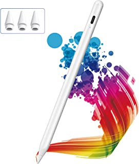 Lápiz para iPad 2018-2021, KINGONE Stylus Pen con Rechazo de Palma, iPad Pencil【Sin Demora/Detección de Inclinación】para i...