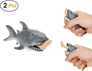Easy 99 2 Pcs Funny Shark Squeeze Toys Squishy Toy Anti Stress Toy Relieves Stress Toy for Kids and Adults