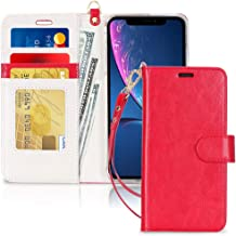 FYY Luxury PU Leather Wallet Case for iPhone Xr (6.1