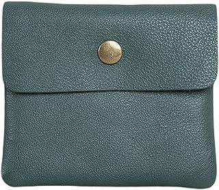 Men's Genuine Leather Money Case Bag Snap On Pouch Wallet Change Holder Card Organizer Accessories الحد الأدنى (Color : Gr...