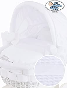 Brand New White Wicker Crib Bedding Set with Hood ONLY Covers ONLY for Large Hooded Wicker Crib Sweet Baby