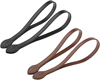 oshhni 2 Pair DIY Pu Leather Purse Bag Handle Replacement Straps