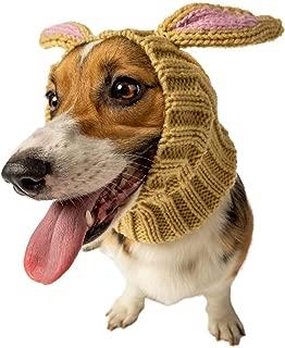 Zoo Snoods Jack Rabbit Dog Costume - Neck and Ear Warmer Headband for Pets