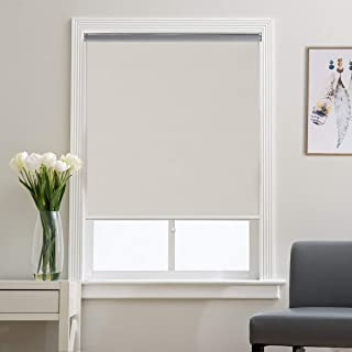 Grandekor Window Blackout Blinds Room Darkening Shade Roller Shades for Bedroom, Black Out 99% Light & UV, Thermal, Cordless and Easy to Pull Down & Up, Cream, 24