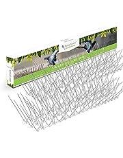 Púas de acero inoxidable para pájaros - Disuasivo duradero para palomas: excelente elemento disuasorio para pájaros, cuervos y pájaros carpinteros - Cubre 10 pies / 3 metros