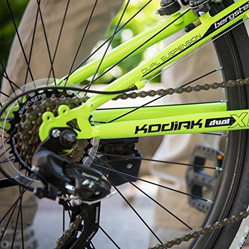 Bergsteiger Kodiak 24 Zoll Kinderfahrrad, geeignet für 8, 9, 10, 11 Jahre, Scheibenbremse, Shimano 21 Gang-Schaltung, Mountainbike mit Vollfederung, Jungen-Fahrrad - 4