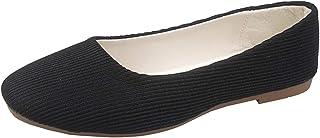 أحذية باليه مسطحة للنساء - أحذية راقصة الباليه سهلة الارتداء بتصميم لطيف ومريح ومسطح وواسع للقيادة