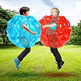 Shangle-sunshine 2 PC Bumper Balls, Inflatable Body Bubble Ball Sumo Bumper Bopper Toys, Heavy Duty Durable PVC Vinyl Kids Adults Physical Outdoor Active Play (2pcs 24inch)