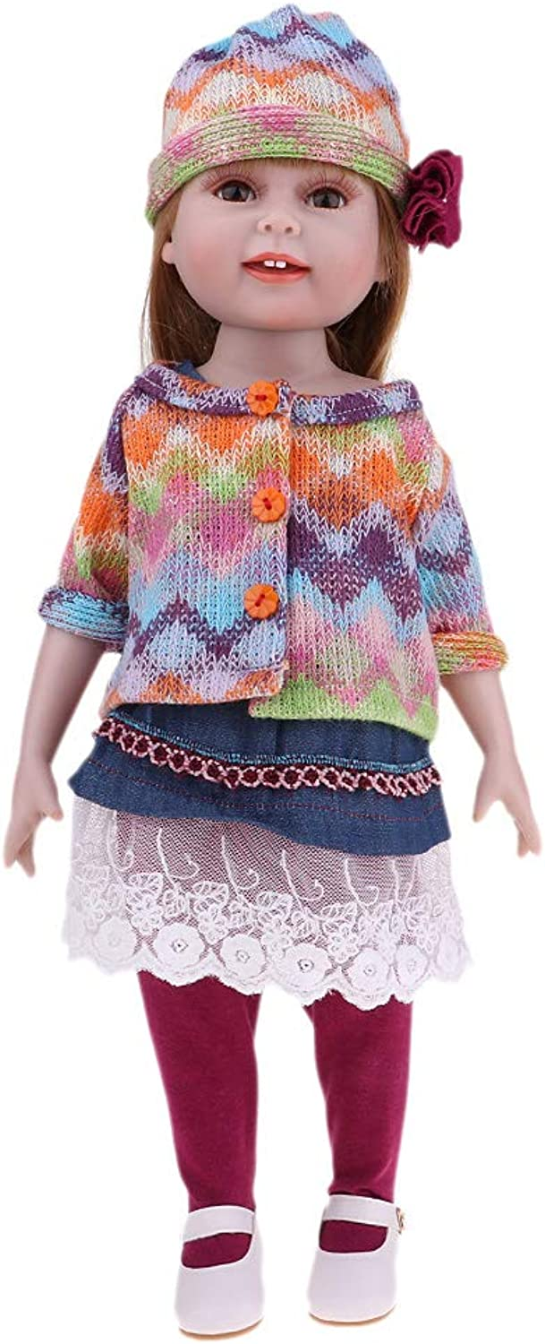 Kesoto 18 inch BJD Doll Jointed Looking Girl Princess Doll in Clothes Toys for Collections Kids Gift