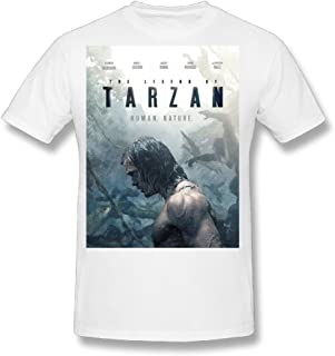 Flesiciate1 Men The Legend Of Tarzan Handsome Major Character Cover Design Tee Shirts