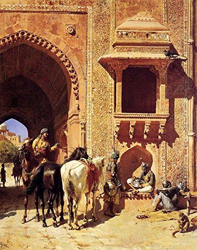 Het Museum Outlet - Edwin Lord Weeks - Poort Van Het Fort In Agra India - Poster Print Online (24 x 18 Inch)