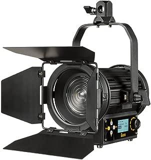 Ikan Helia 40W Bi-Color LED Fresnel Light, 2700-5600K, 4 inch Fresnel, Barn Doors Included (HF40) - Black