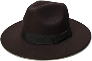 LiWen Zheng Big Size Wome Men Fedora Hat Wool Sombrero Fedora Panama Jazz Hat Black Ribbon