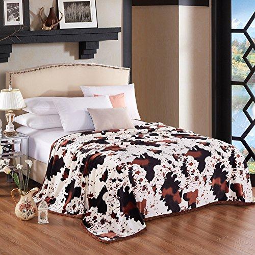 Super de peluche y cómodo cálido franela manta sofá y TV manta para todo el año uso sofá/cama/coche portátil Plaids manta/manta de viaje/oficina del almuerzo, poliéster, Dairy world, 150cmX200cm