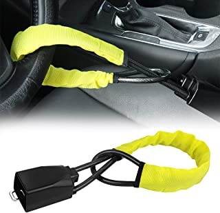 $29 » Steering Wheel Lock Seat Belt Lock Security Vehicle Seatbelt Lock Anti-Theft Handbag Lock Fit Most Cars SUV Yellow 2 Keys