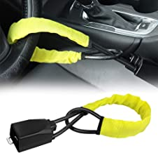 $29 » Steering Wheel Lock Seat Belt Lock Security Vehicle Seatbelt Lock Anti-Theft Handbag Lock Fit Most Cars SUV Yellow 2 Keys