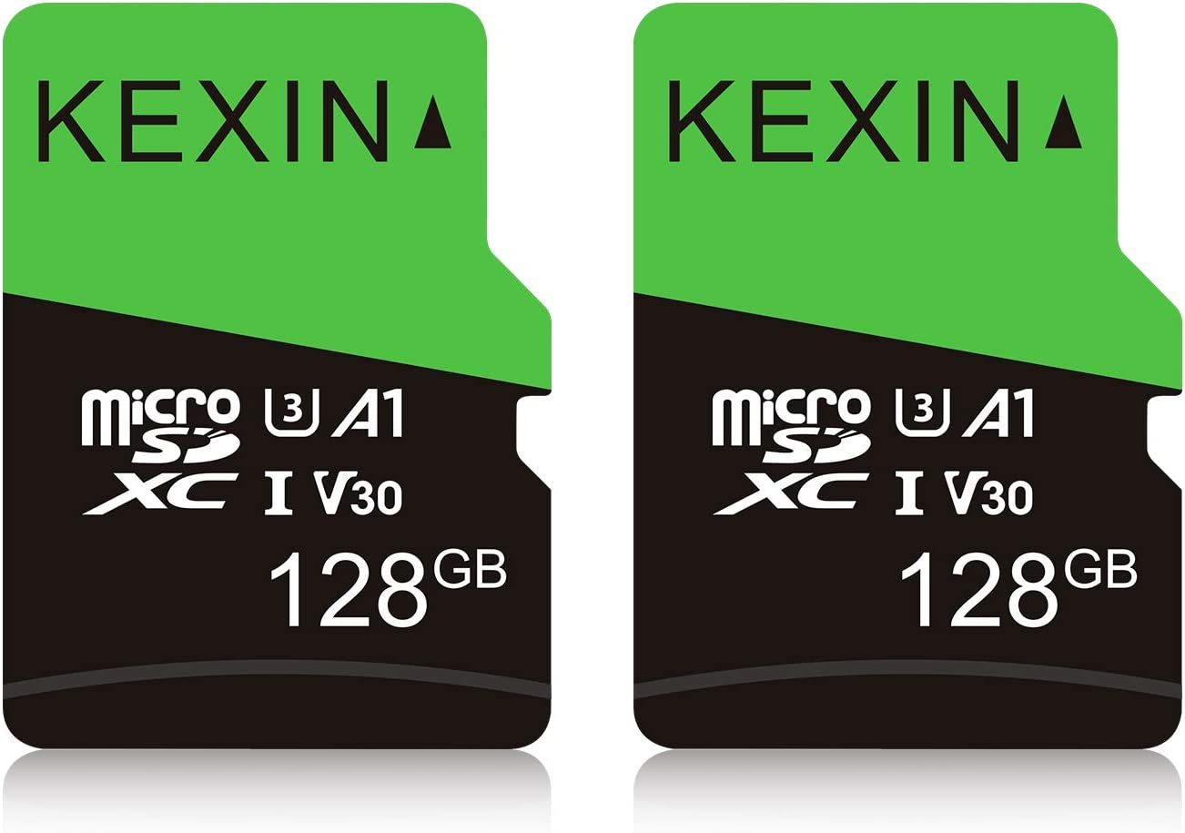 KEXIN 128GB Micro SD Card Class 10, U3, V30, A1 Ultra MicroSDXC UHS-I Memory Card, 2 Pack
