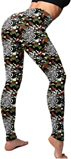 Sentao Women's High Waisted Camo Seamless Leggings Printed Athletic Yoga Leggings Gym Fitness Workout Yoga Pants