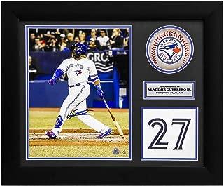 Vladimir Guerrero Jr Toronto Blue Jays Signed Jersey Number 24x20 Frame #/27