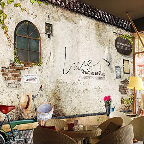Tapete Fototapete 3D Wanddeko 300*210Cm Klassisches Altes Straßenwandfoto Paris Kitchen Cafe Restaurant 3D Selbstklebend Junge Schlafzimmer Tapete Kinderzimmer Mädchen Zimmer Hintergrund Wanddekoratio