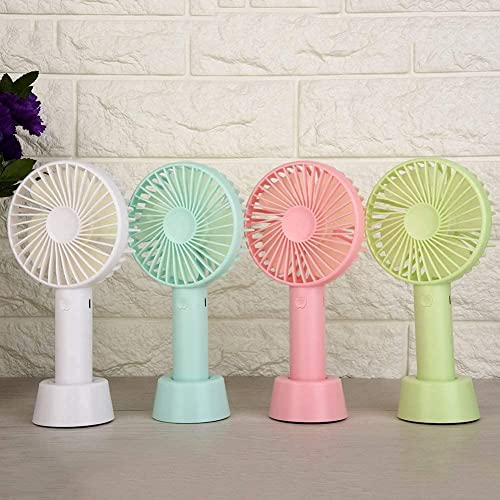 DRAMIQ Rechargeable High Speed Portable Small Home Table USB Fan Desk Table Handheld Palm Leaf Fan for HOME OFFICE and KITCHEN Indoor and Outdoor Activities Random Colour